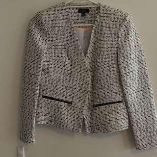 Topshop Black And White Blazer Size: 10