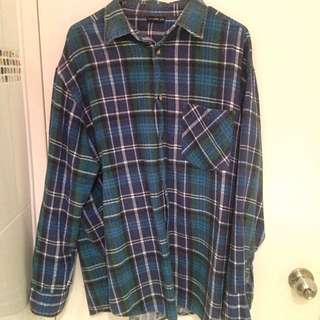 Vintage Oversized Checked Shirt