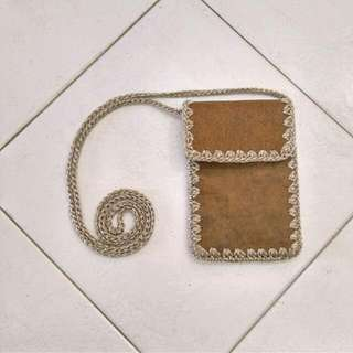 Genuine Leather Sling Pouch