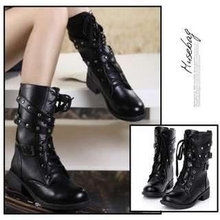 NS20524 Black - Boots - Sepatu Import - Sepatu Wanita Murah