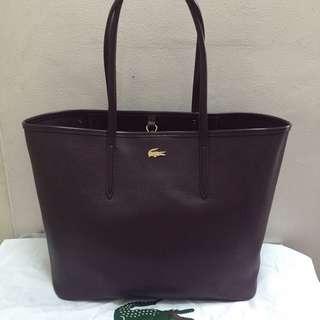 Lacoste Chantaco Pique Leather Tote Bag