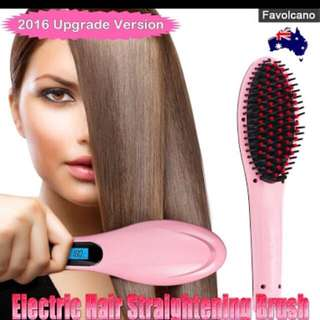 ELECTRIC HAIR STRAIGHTENER BRUSH LCD 2016 MODEL