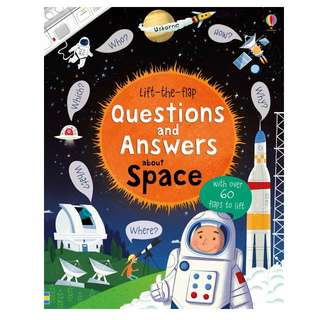 [In Stock] Usborne Lift-the-flap questions and answers about space