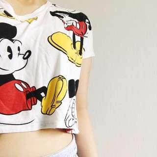 Disney Mickey Crop Top