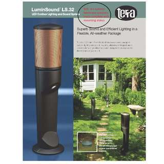 New-In-Box 4 sets Outdoor Landscape Speakers with LED downlights.  Terra LuminSound LS.32