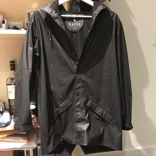 Rains Black Windbreaker Jacket