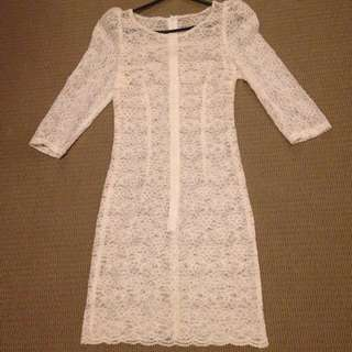 White Lace Dress Size Xs