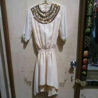 Cream Tailor-made Dress