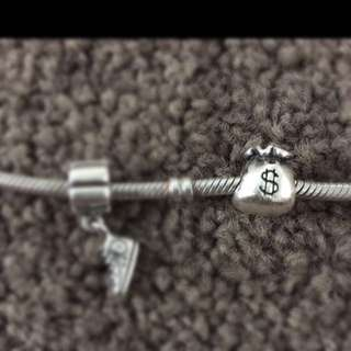 Authentic Pandora Money Bag Charm