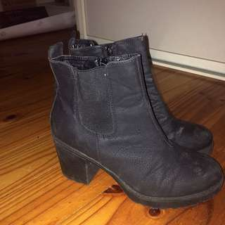 Size 8 Black Ankle Boots