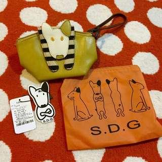 S.D.G真皮化妝包/手腕包