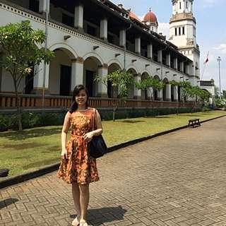 Batik Dress Kombinasi Brokat