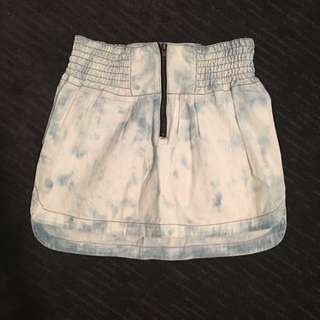 Roxy White wash high waist Skirt