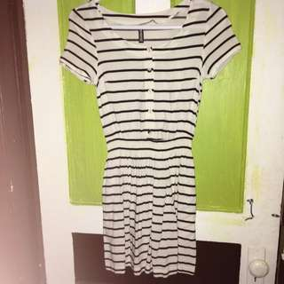 H&M Striped Casual Summer Dress