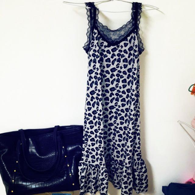 🔱全新🔱細肩蕾絲豹紋洋裝❌275