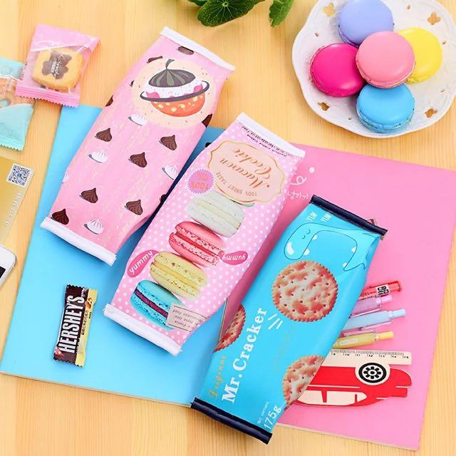 韓國趣味零食餅乾筆袋
