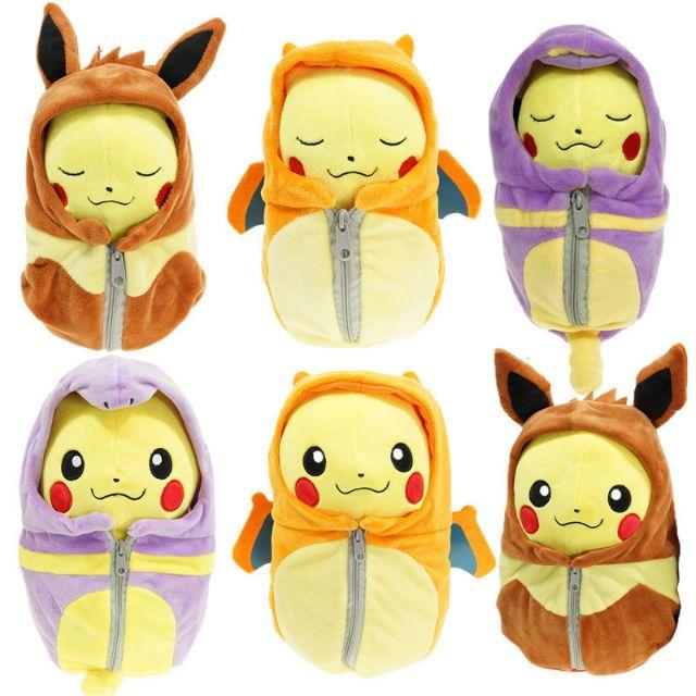 ๑熊糖๑ Pokemon 寵物小精靈 寶可夢 口袋妖怪 神奇寶貝 睡袋系列 皮卡丘 公仔