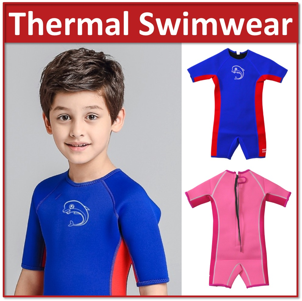 04abfcc2656 A8*Kids Baby Thermal Swimwear Wetsuits UPF 50+ Snorkeling Diving Keep Warm  Swimsuits Swimming Suit Wear Play Water Sports Activities Children Life  Vest ...