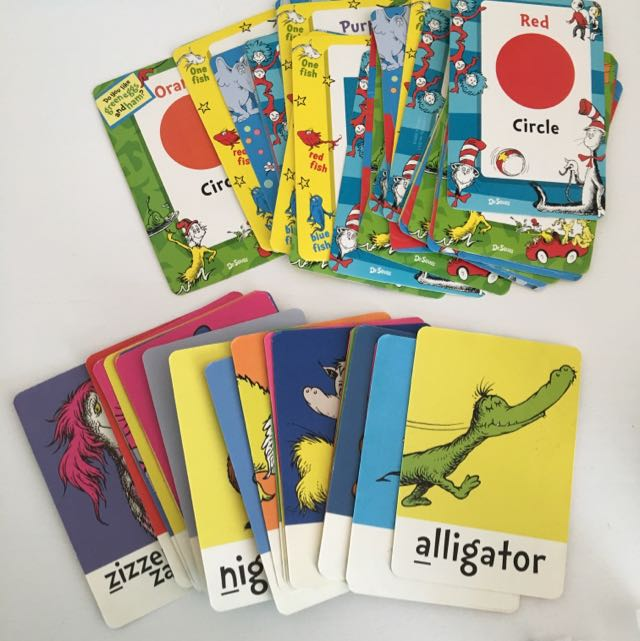 A Set (2) Dr Seuss Flash Cards