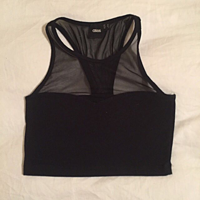 Asos Black Crop Top