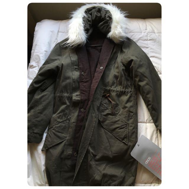ASOS Vintage Faux Fur Parka