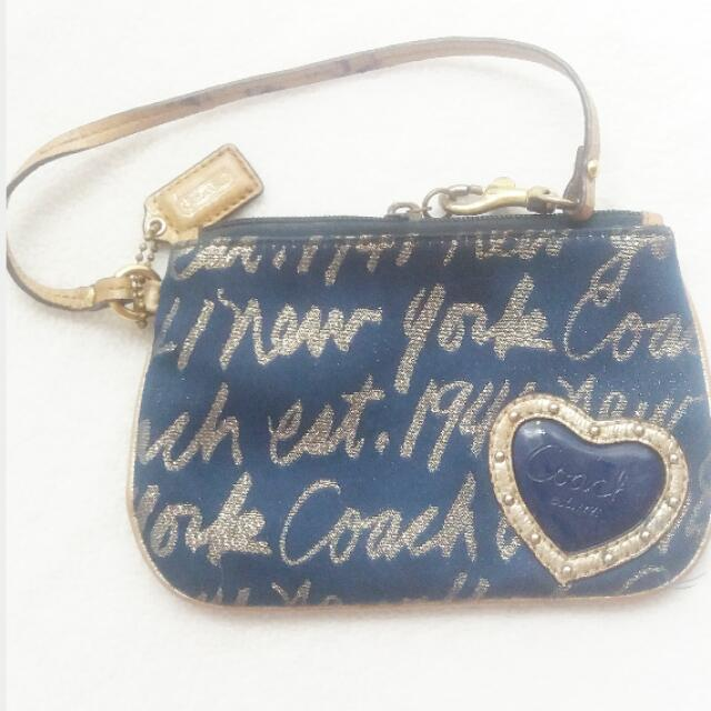 RESERVED (REPRICED) Authentic Wristlet Coach