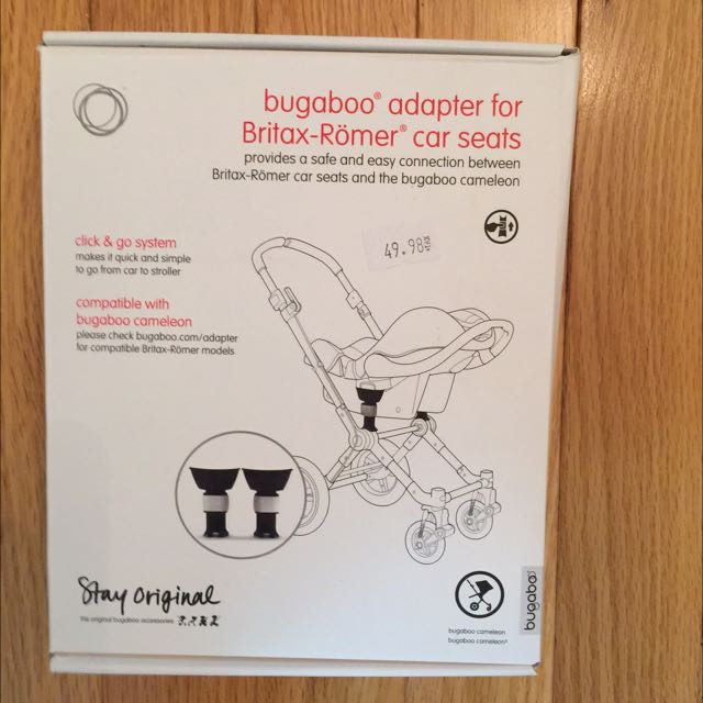 Barely Used Britax Car Seat Adapter For Bugaboo Frog/cameleon