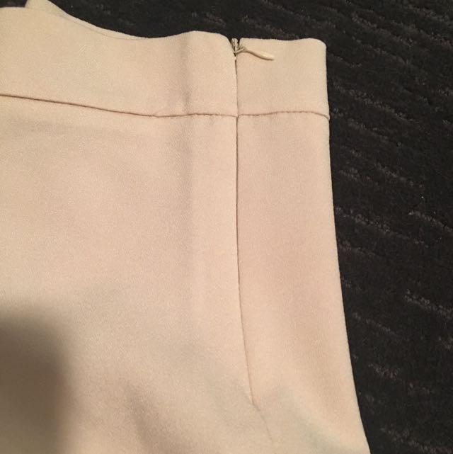 Beige Colour Ruffle Skirt - high waist