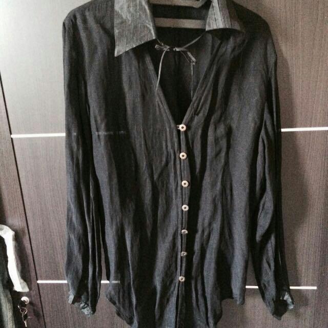 Black Sheer Longsleeve Shirt
