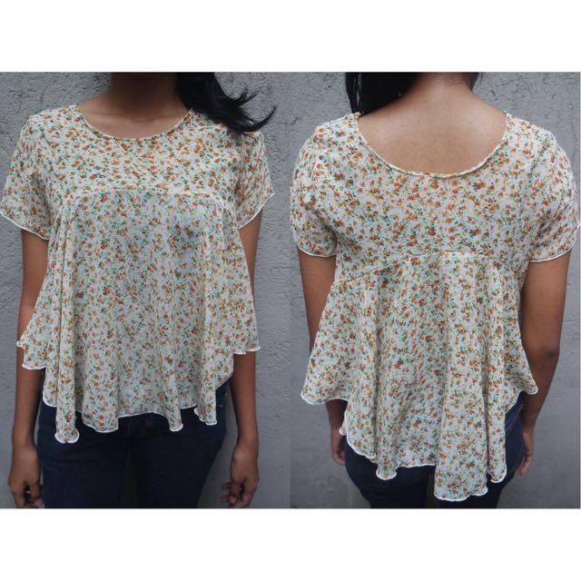 blouse peplum floral
