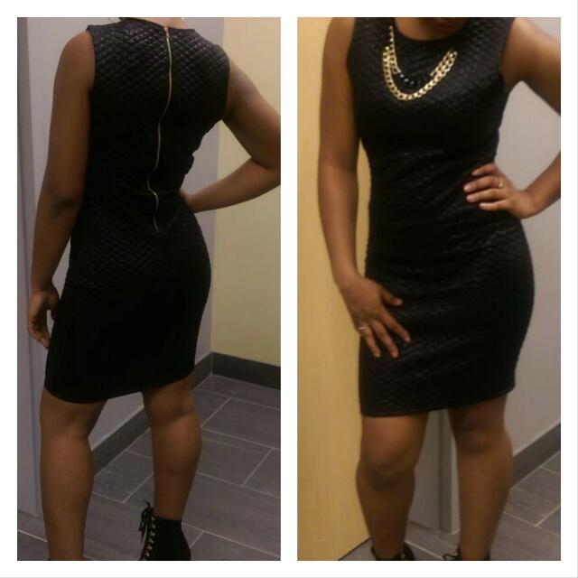 BRAND NEW BLACK DRESS WITH ACCESSORIES