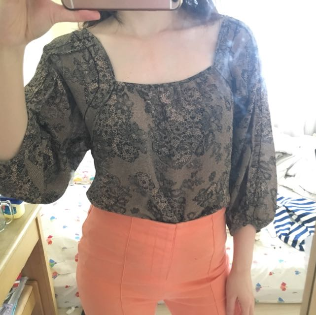 BRAND NEW Nude Floral Blouse