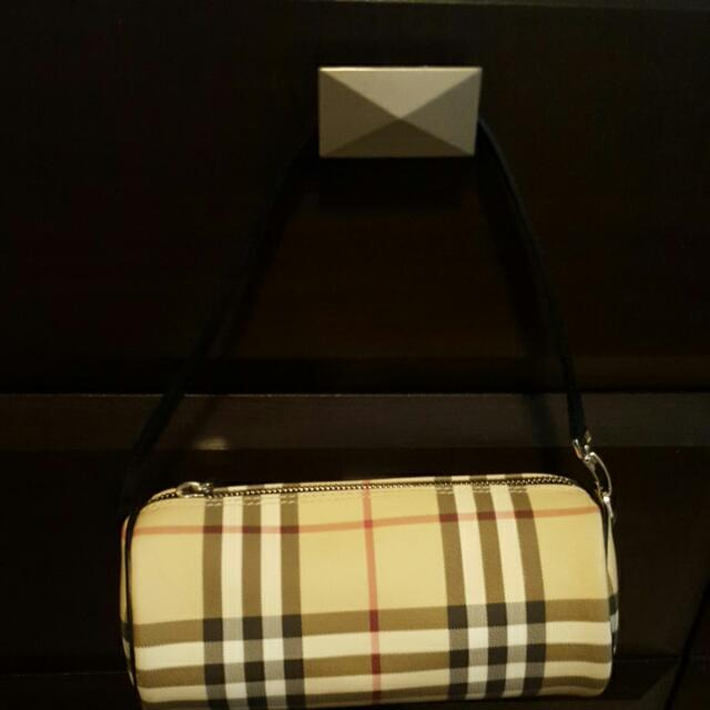 Burberry Nova Check Barrel Handbag