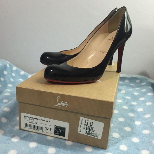 the latest 2a415 efe2e Christian Louboutin Simple Pump 100mm Black Patent