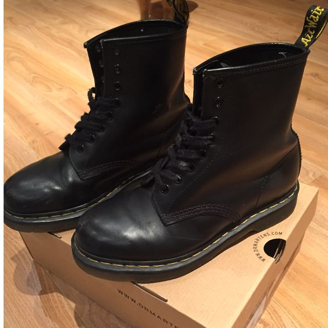 Doc Martins Black Leather