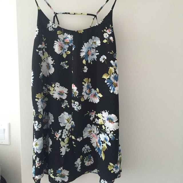FLORAL STRAPPY BACK DRESS