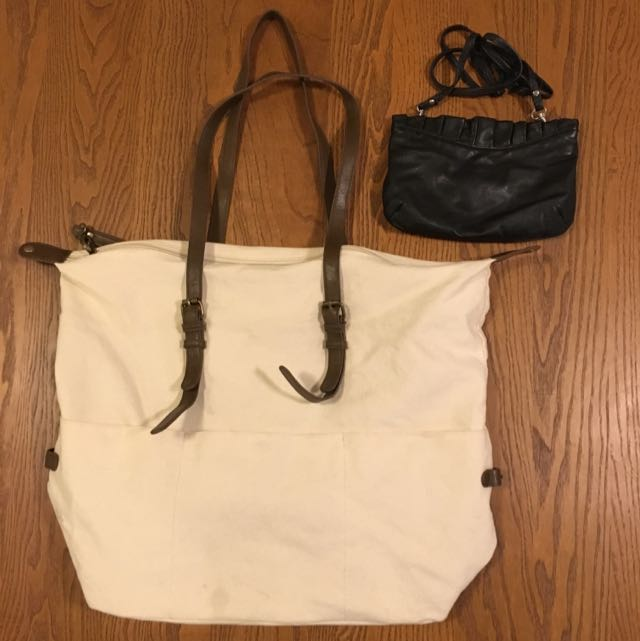 Forever21 Shopper Bag + Free Topshop Sling Black Pouch