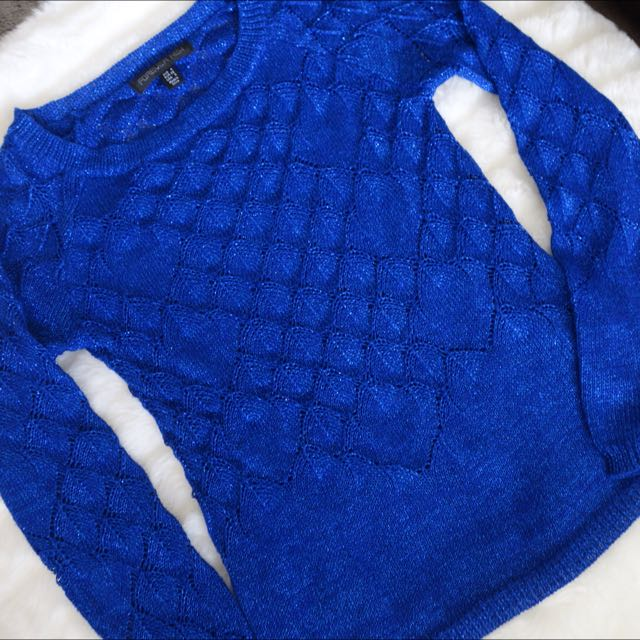 Forever New Royal Blue Knit Winter Top Size 4-6