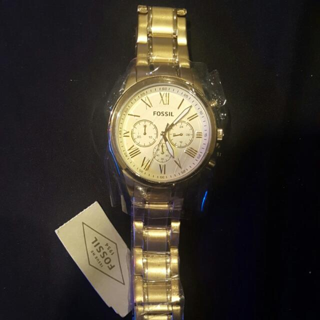 Fossil Unisex Gold Watch