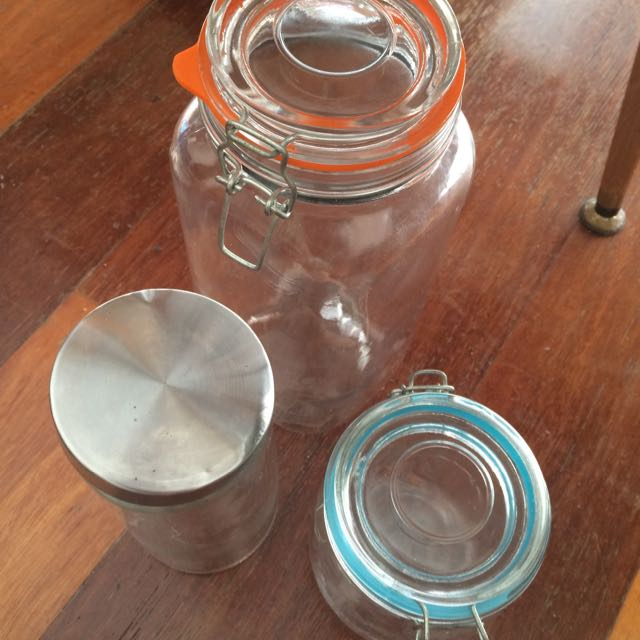Glass Containers Different Size