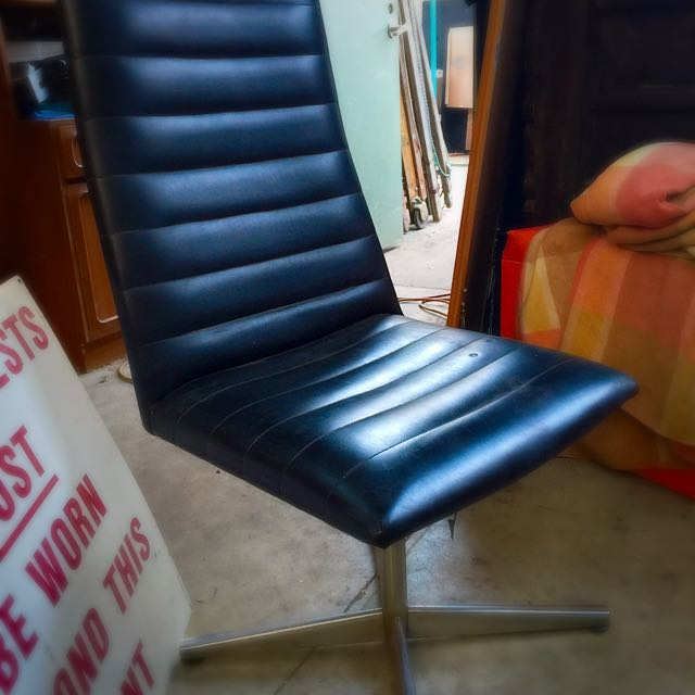 Two High Back Leather Chairs