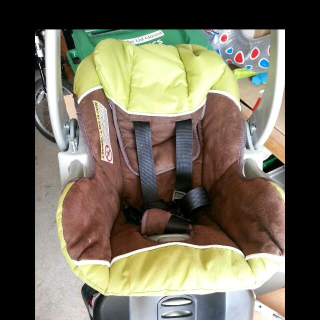 Infant Carseat With Base... With Carseat Cover And Infant Headrest.  Can Also Include Carseat Whirly Toy.  No Accidents And Good Until 2018