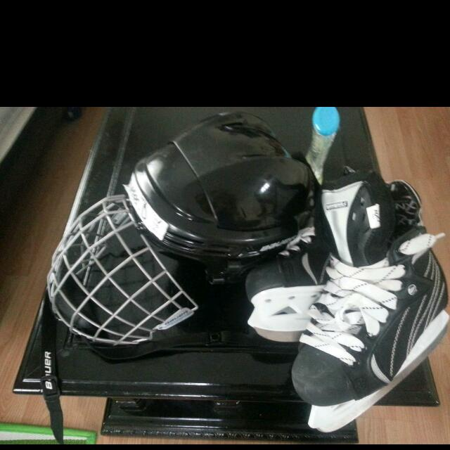Jr Skates And Helmet