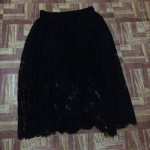 ❗️Lace Black Skirt now at 90❗️