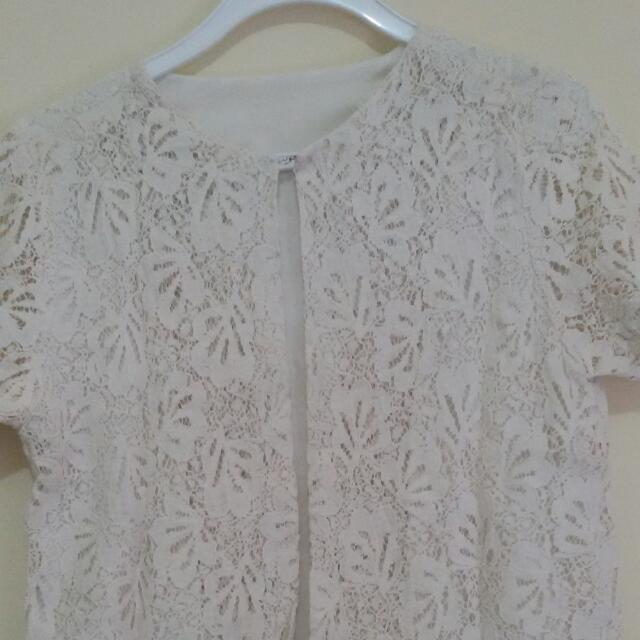 Lace White Bolero