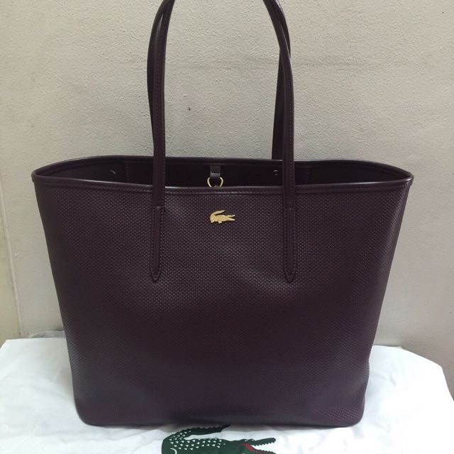 Lacoste Chantaco Pique Leather Tote Bag