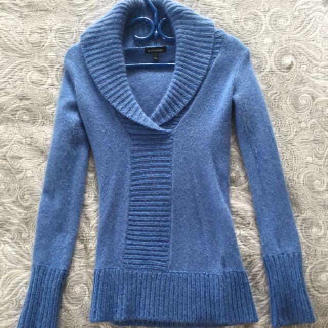 Le Chateau Xxs Blue Wool Sweater