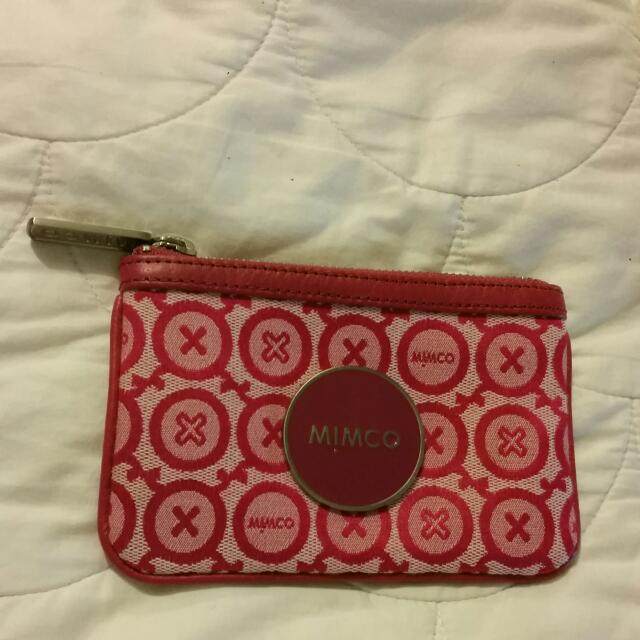 Mimco Hot Pink Patterned Pouch