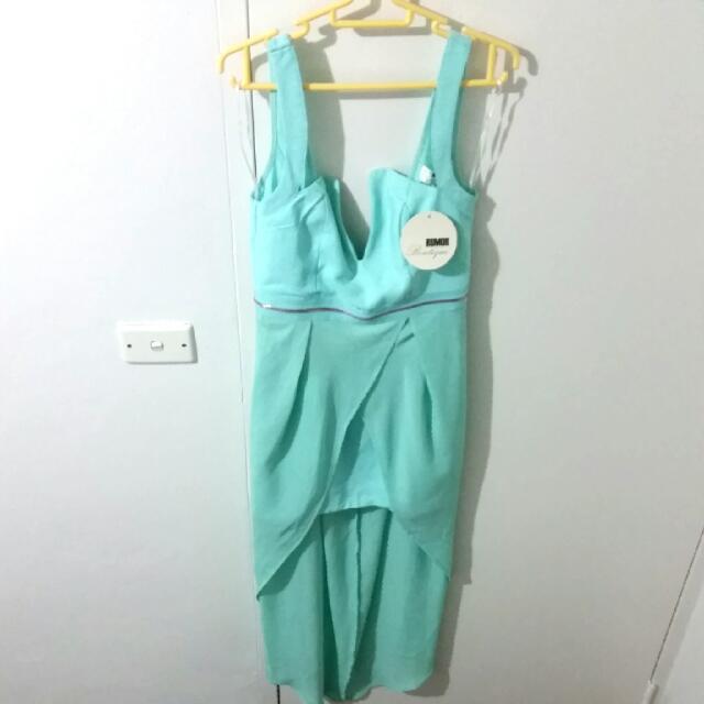 Mint Green Maxi Formal Dress Size 8