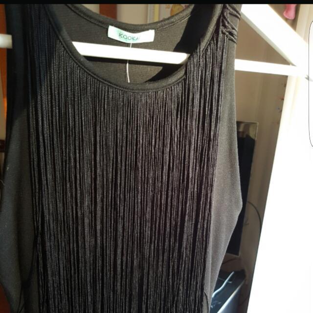 New Kookai Fringe Mini Dress